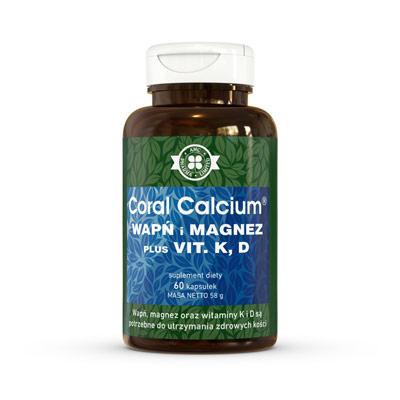 Coral Calcium Wapń I Magnez Plus Vit. K, D - suplement diety